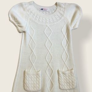 ❤️4for $20❤️H&M Toddler off white sweater dress